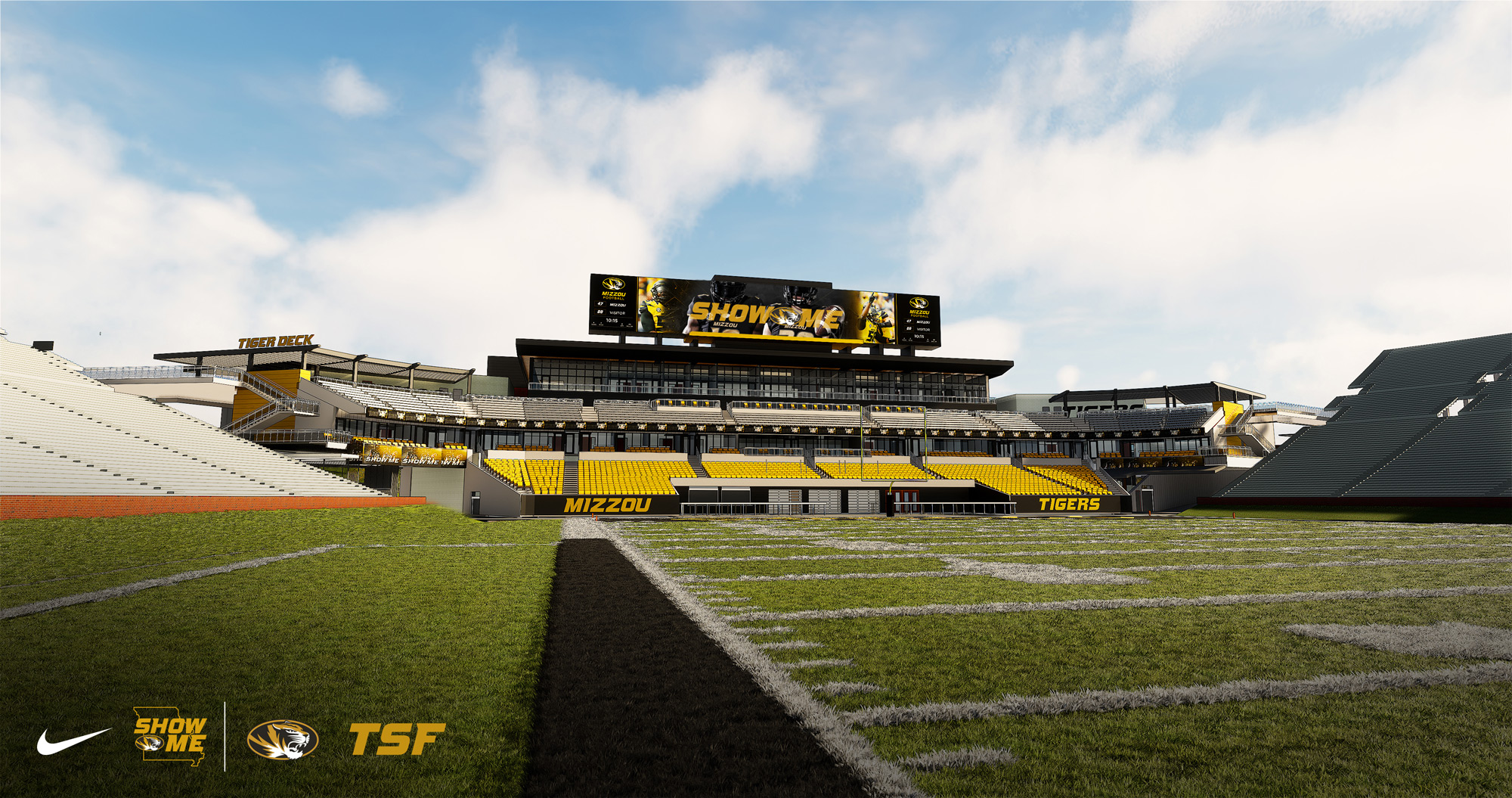 Field-level view from Mizzou sideline